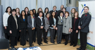 Deputy Minister, Dr. Bob Bell, with staff of St Paul's L'Amoreaux Centre, the Central East LHIN, The Scarborough Hospital, Carefirst Seniors & Community Services Association and Seniors Care Network.