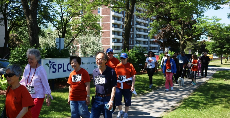 Participants in this year's Walk for Seniors in full force!